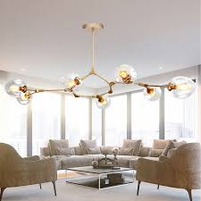 large pendant lighting. Modern Ceiling Lights Lobby Gold LED Chandelier Kitchen Large Pendant Lighting