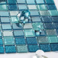 sea glass tile backsplash ideas bathroom mosaic mirror glass mosaic tile shower installation
