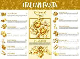 Italian Cuisine Pasta Infographics Chart And Map With