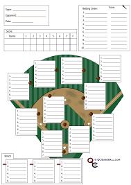 Softball Defesive Lineup Card Baseball Lineup Baseball