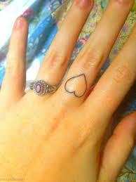Small Heart Tattoos On Finger Sweetlimau