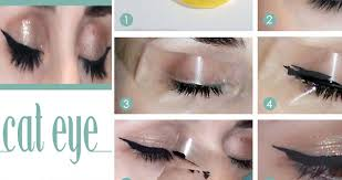 easy way to make cat eye makeup