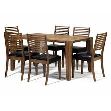 opus solid walnut 6 seater dining set 5459 furniture in attractive six seater dining table and