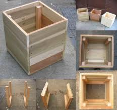 easiest diy wooden box planters