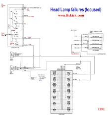 schematics to run engine the 1991 unified head light schematic i made