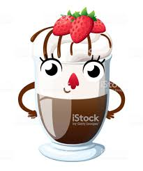 hot chocolate with whipped cream clip art. Interesting Art Hot Chocolate With Whipped Cream And Strawberry Cartoon Style Character  Design Mascot Smiling Throughout Chocolate With Whipped Cream Clip Art T