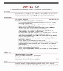 Civil Engineering Technician Resume Unique Civil Engineer Technician Resume Sample LiveCareer