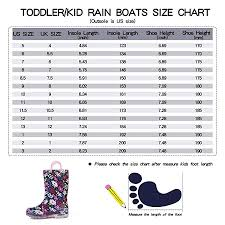 Wellington Show Coat Size Chart K Komforme Kids Light Up Rain Boots Flashing Wellies Wellington For Girls And Boys Size 5 13 1 2