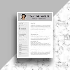 Professional Resume Template Cv Template Printable Resume Cover Letter Template Modern Resume Instant Download Word And Indesign