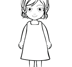 Girl Coloring Picture Girl Coloring Sheet A Girl Coloring Page