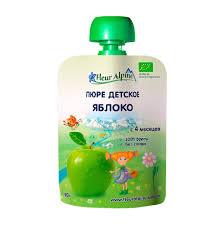 <b>Пюре фруктовое Fleur</b> Alpine Organic Яблоко 90 г (1001470207 ...