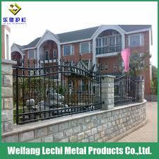 Modern Iron Fence Designs Hot Item Modern Design Anti Climb Security Nodular Cast Iron Fencing For Villa Garden Playground