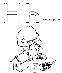 alphabet coloring pages printable hammer alphabet coloring pages printable hammer alphabet coloring pages on hammer coloring page