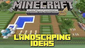 Minecraft Bedroom Xbox 360 Minecraft Xbox 360 Landscaping Ideas And Tutorial Backyard