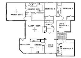 100  Four Bedroom House Plan   Home Design 4 Bedroom House Small 4 Bedroom House Plans