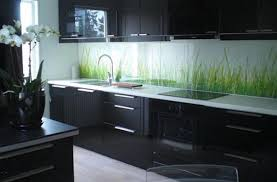 image of black kitchen cabinets modern