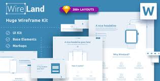 Website Wireframe Template Custom Wireland Wireframe Library For Web Design Projects Sketch