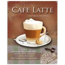Cafe Latte Kitchen Decor Cafe Latte Defined Metal Coffee Shop Sign Cafe Wall Decor