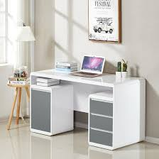 white computer desk. Florentine Computer Desk In White And Grey High Gloss L