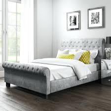 grey upholstered sleigh bed. Grey Sleigh Bed Roll Top Double In Velvet Super King . Upholstered M