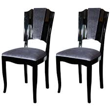 view this item and discover similar dining room chairs at pair of art deco dining chairs with directoire backs black lacquer and newly