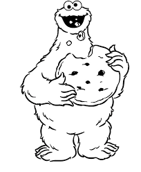 Small Picture Cookie Monster Eat Big Cookie Coloring Pages Coloring Sky