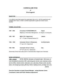 How To Create A Good Resume Great Resume Objectives 100 Example Template 43