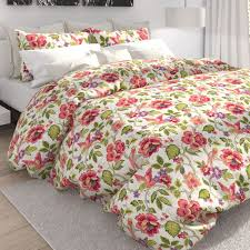 tess tropical fl duvet cover set off white touch to zoom
