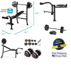 fitness running yoga olympic barbell 7 ft set 45 lb weight chrome bar lifting bench