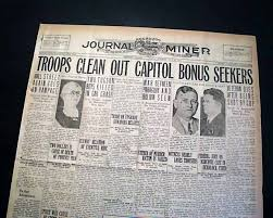Bonus Army Bonus Army In Washington D C Rarenewspapers Com