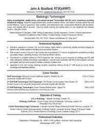 Radiologic Technologist Resume Examples Custom Radiologic Technologist Programs In California Resume Templates