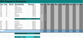 5 Bill Payment Schedule Template Pdf Word Excel Tmp