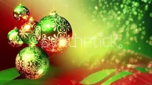 Christmas background loop. Red, green and gold Christmas balls and  snowflakes. - YouTube