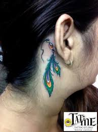 Dream Catcher Tattoo Behind Ear Smallfeathertattoodreamcatchertattoopeacockfeathertattoo 74