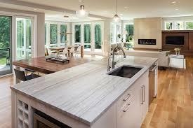 stone countertops island in kitchen by c d granite