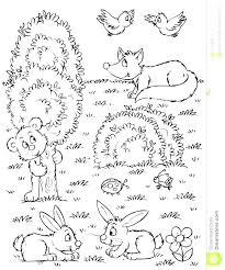 Forest Animals Coloring Pages Animal Coloring Page Baby Forest