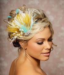 161 best peacock images on pinterest peacock, lotus and peacock Wedding Hair Pieces With Feathers mustard yellow bridal head piece peacock feather wedding hair accessories fascinator wedding hair clip made Flower and Feather Hair Pieces