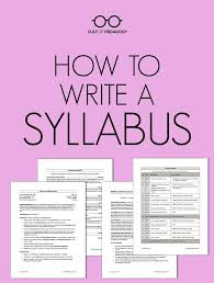 college syllabus template best 25 syllabus template ideas on pinterest class syllabus