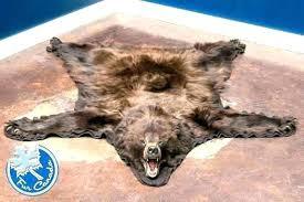 faux bear skin rugs fake rug with head canada