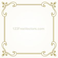 gold frame border vector. Interesting Gold Vintage Gold Frame Design Vector Graphics Intended Border
