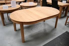 oak round oval extending dining table room ideas