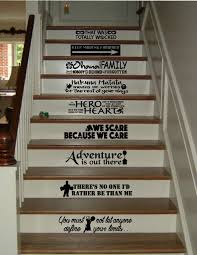 Stairs Quotes Magnificent Stair Riser Decals Disney Quotes Ohana Frozen Lion King Etsy