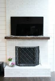 brick fireplace makeover diy