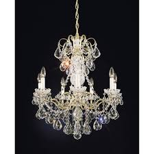 schonbek new orleans french gold seven light clear heritage handcut crystal chandelier 24w x 27h x 24d