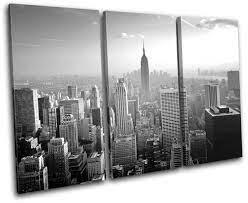 New York NYC Skyline City TREBLE CANVAS ...