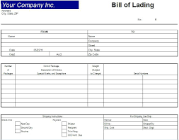 Blank Bill Of Lading Forms Excel Bill Of Lading Template Pdf Conway Straight Form