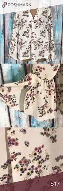 Carolina Bell Designs Carolina Belle Floral Bell Sleeve Blouse Size L Carolina