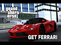 However, you should note that using these gta 5 cheat codes may stop you from gaining certain achievements and trophies. Gta San Andreas How To Get Ferrari La Car Mods Youtube