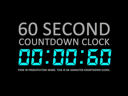 Countdown Clock For Powerpoint Presentation 60 Second Digital Countdown Clock Presentation Powerpoint Slide