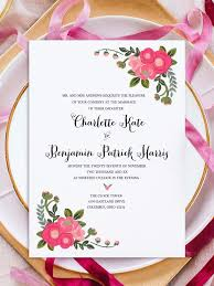 pink flowers free printable invitation templates